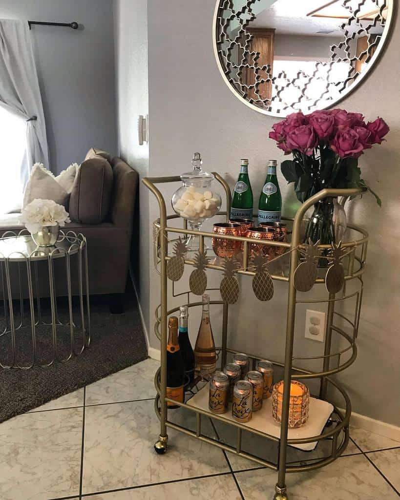 Metal Bar Cart Ideas -fitmommy_of_3