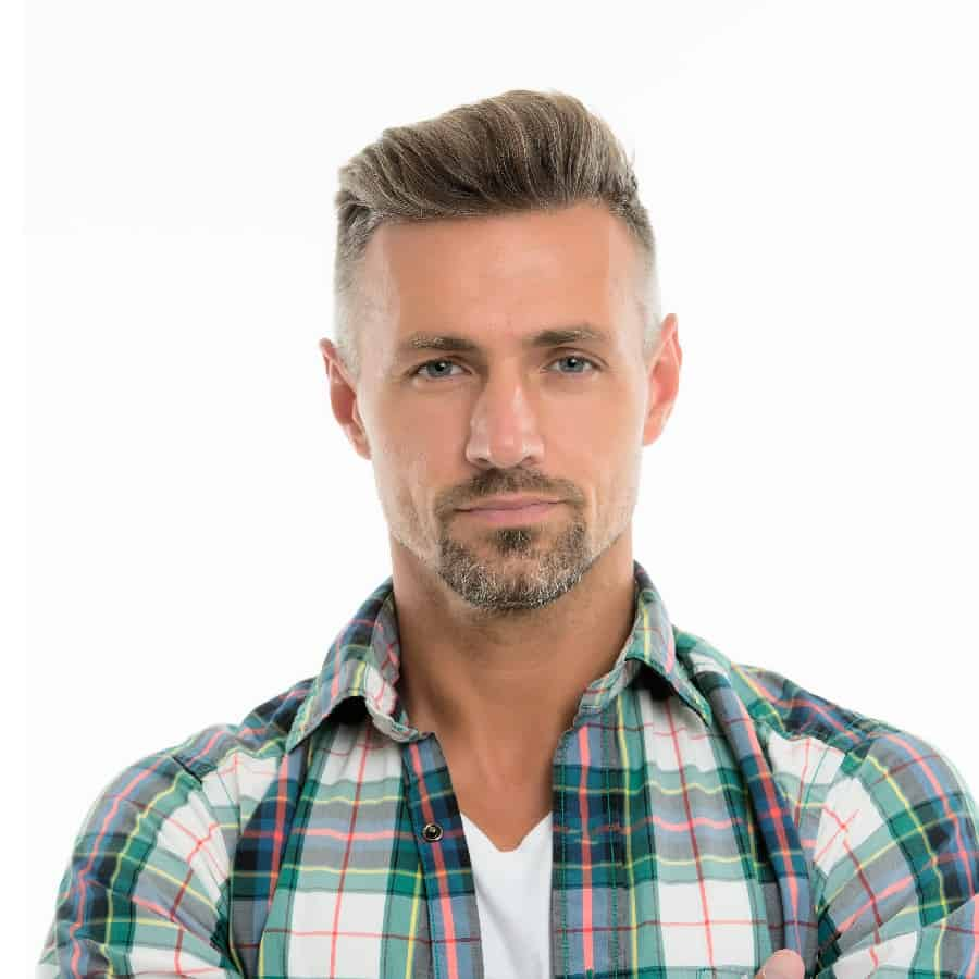 Mid Length Pompadour Hairstyle