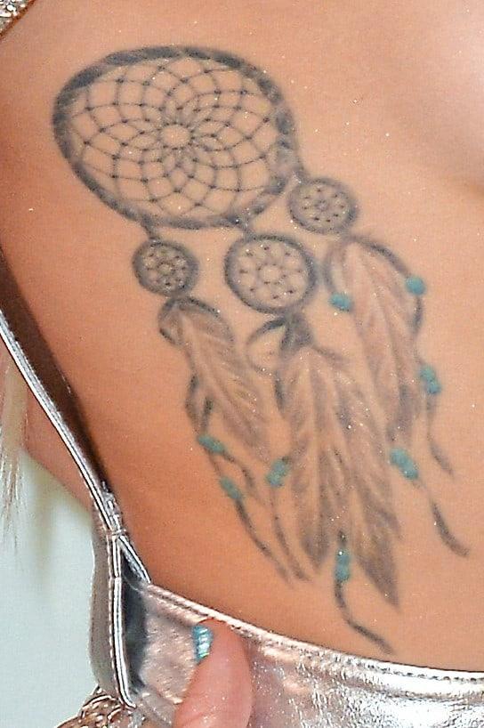 Miley Cyrus Dreamcatcher Tattoo Rightside