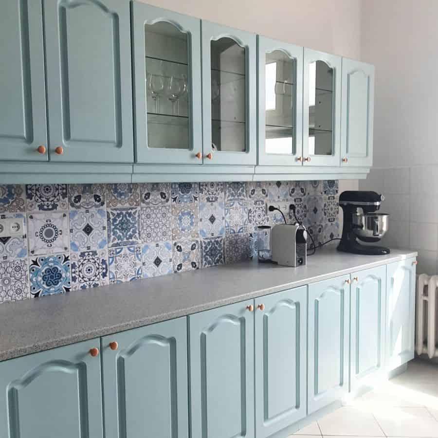 Mint Kitchen Cabinet Color Ideas w_sierakowska