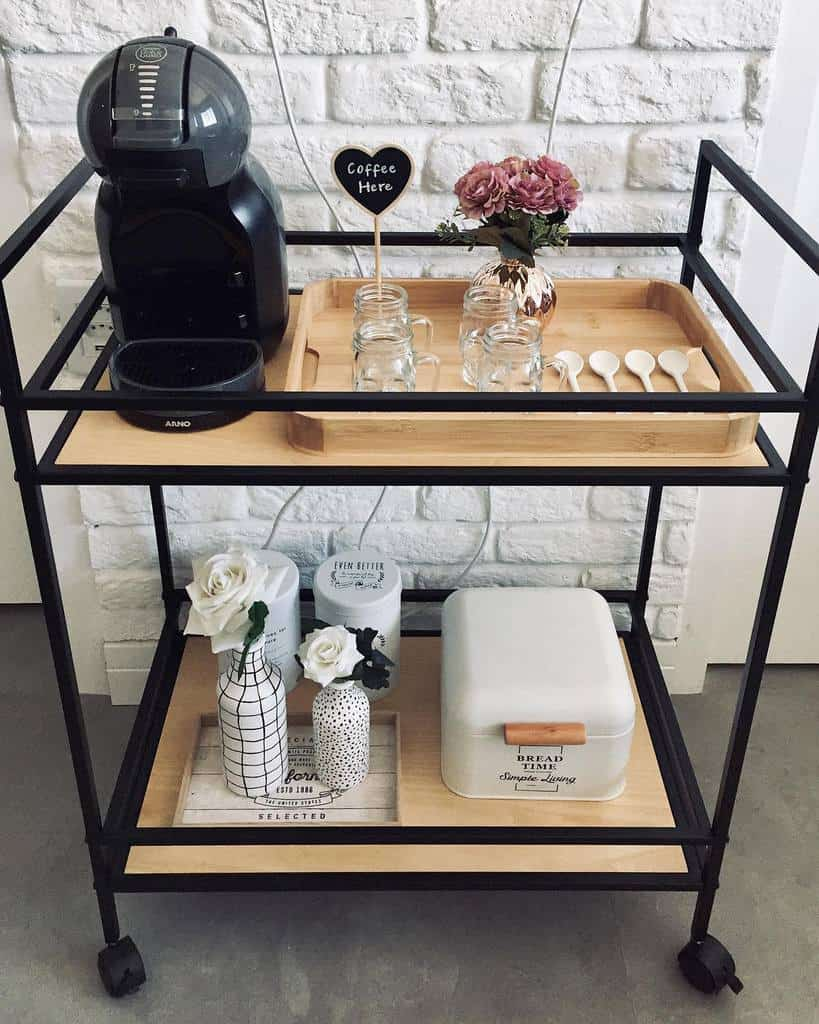 Modern Bar Cart Ideas -apekenino