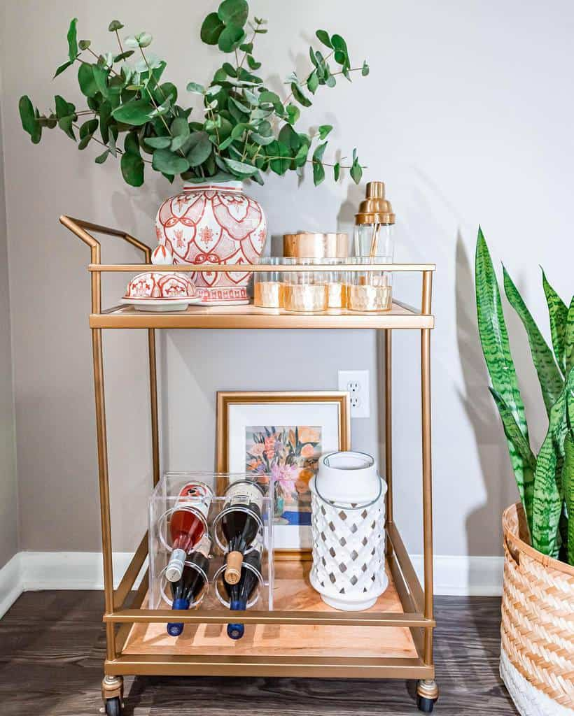 Modern Bar Cart Ideas -thesensiblystyledhome