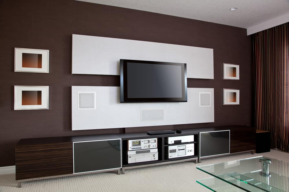 Modern,Home,Theater,Room,Interior,With,Flat,Screen,Tv