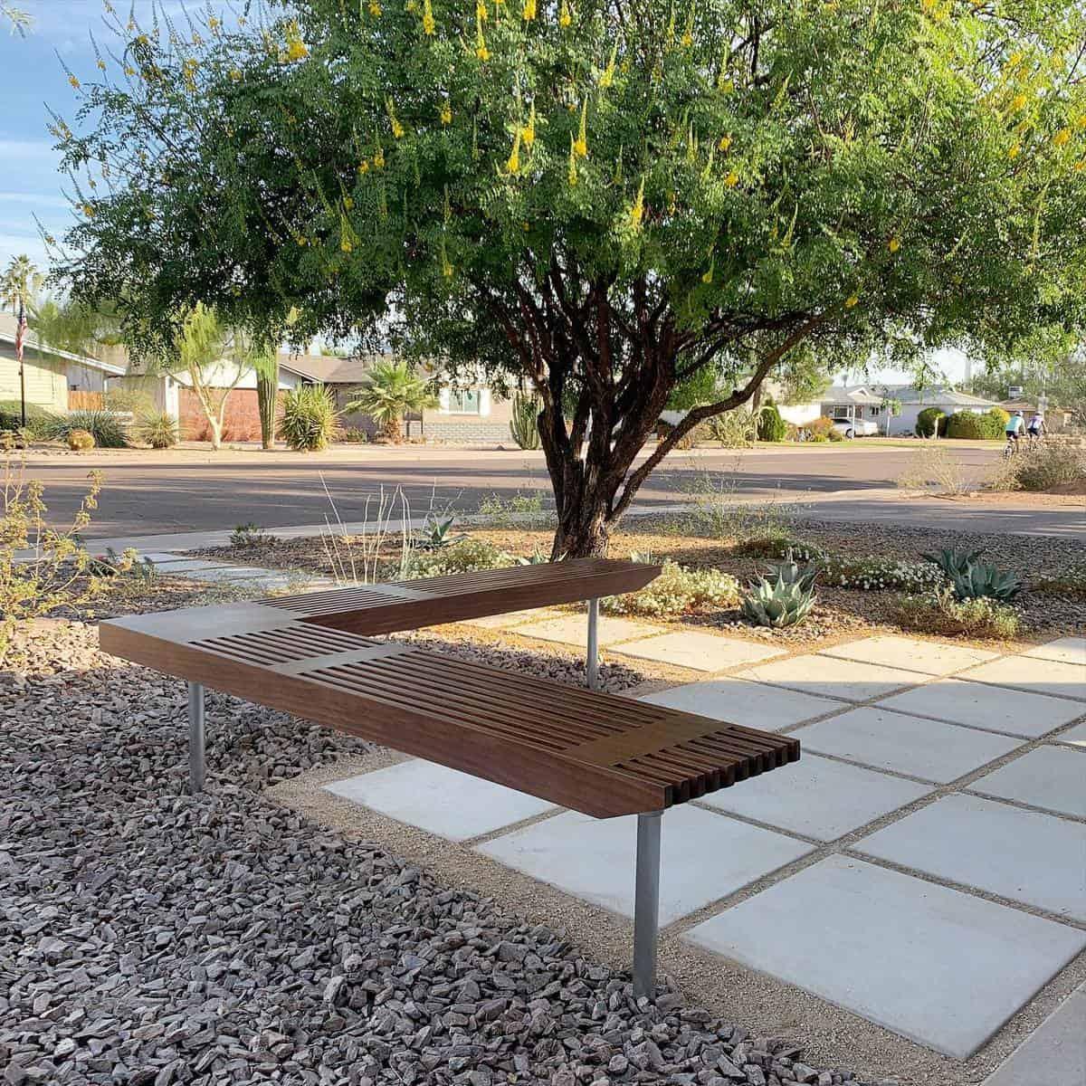 Modern Design Garden Bench Ideas -revivemodern