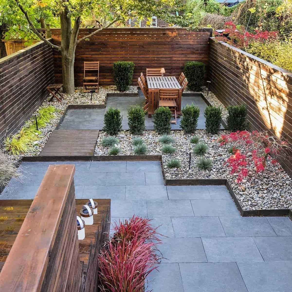Modern Landscape Grass Free Yard Ideas -earthandsole