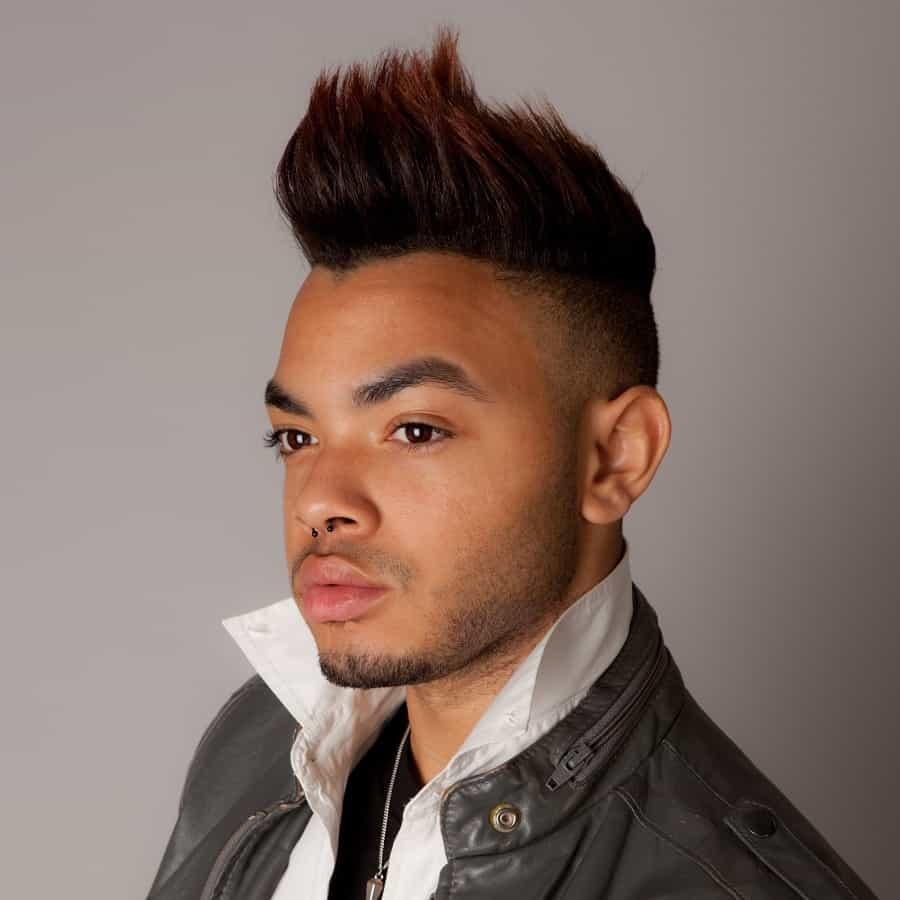 Mohawk With Burst Fade Haircut