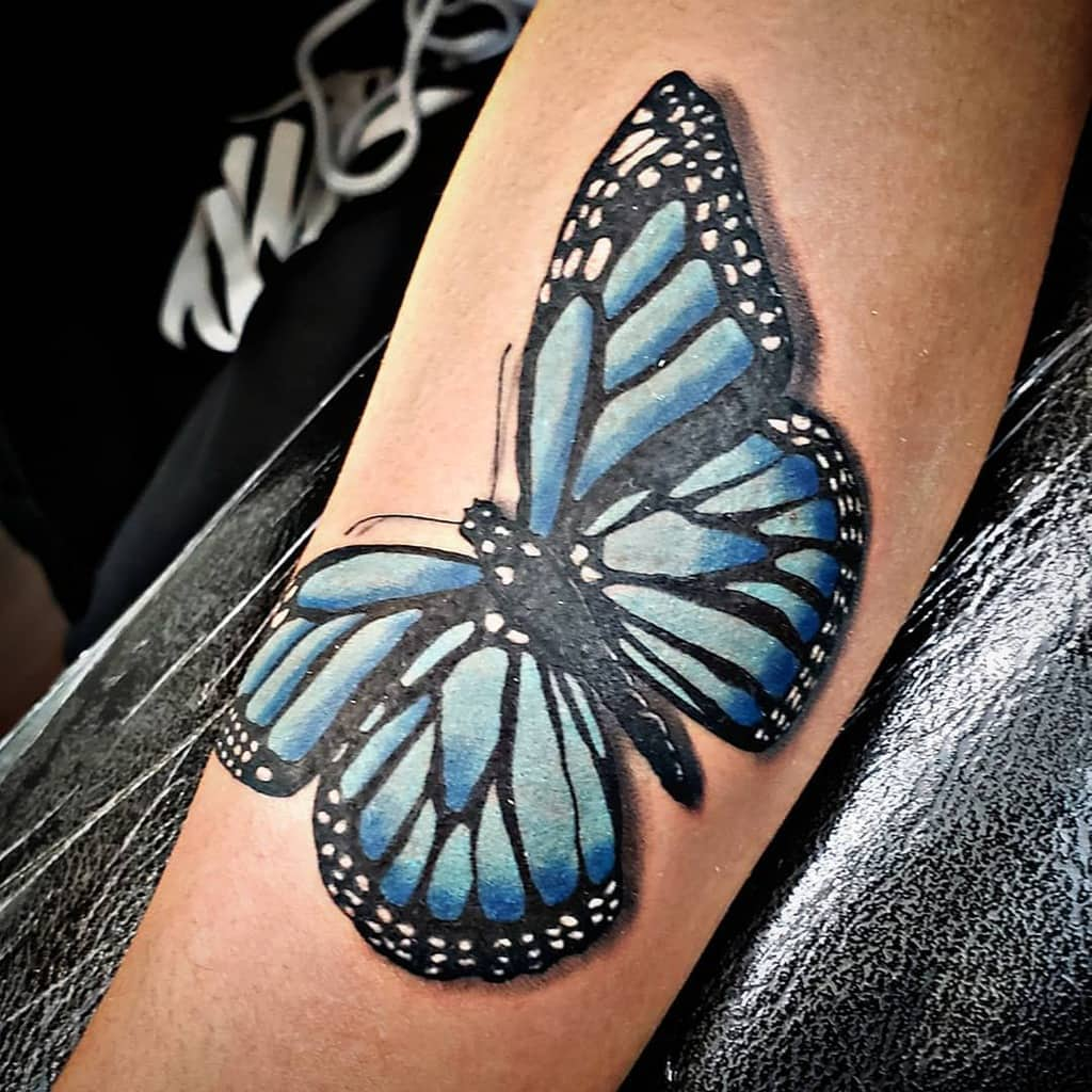 Monarch Blue Butterfly Tattoos bodyartistsd