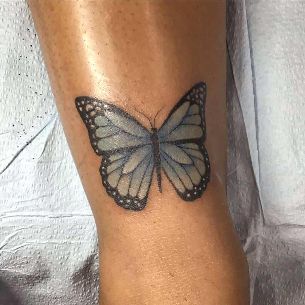 Monarch Blue Butterfly Tattoos melbootstattoo