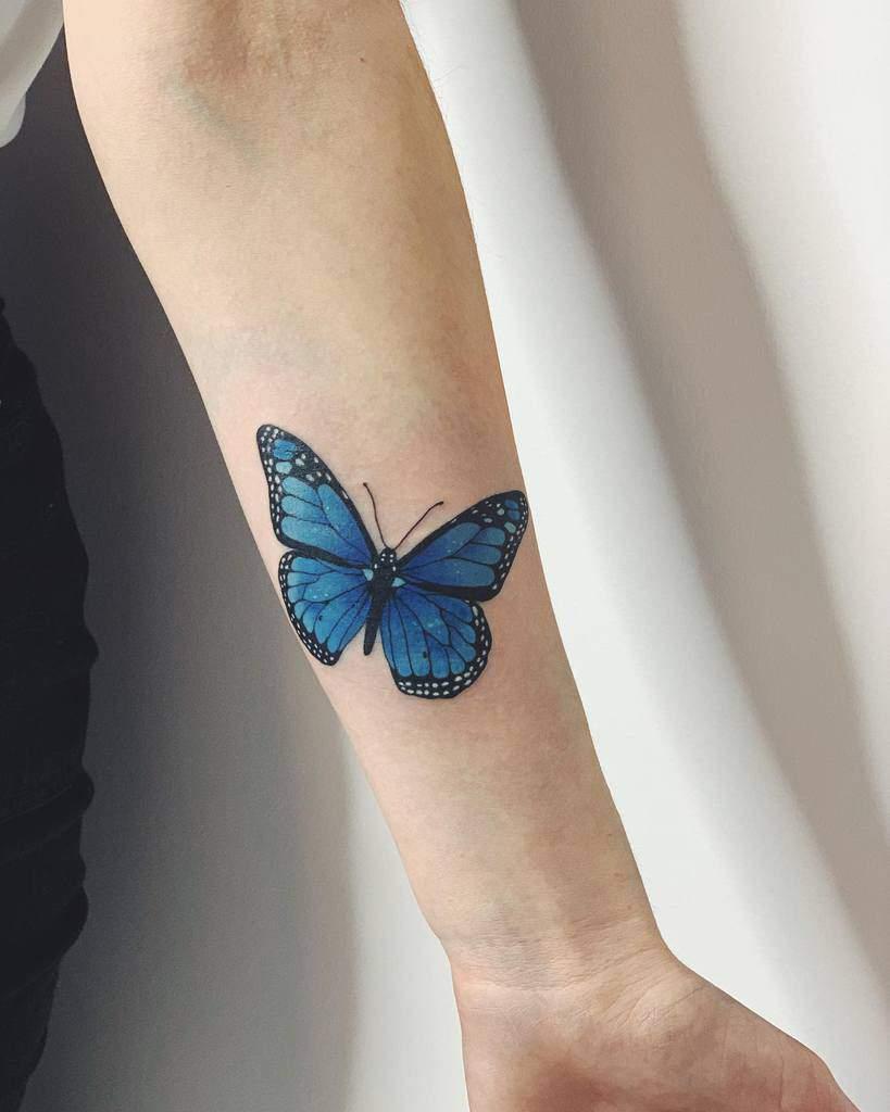 Monarch Butterfly Tattoo hornedqueen_ink