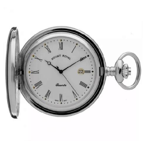 Mount Royal Full Hunter Quartz Pocket Watch