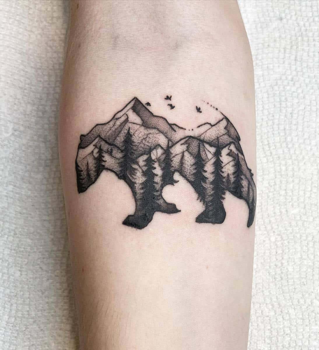 Mountain Black Bear Tattoo mixedbreed_tattoo