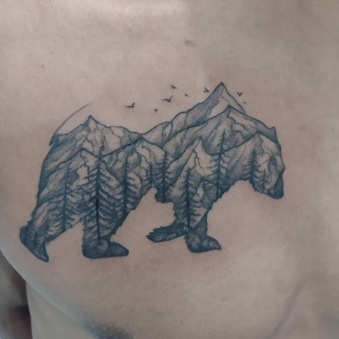 Mountain Black Bear Tattoo nyahbinghitattoo