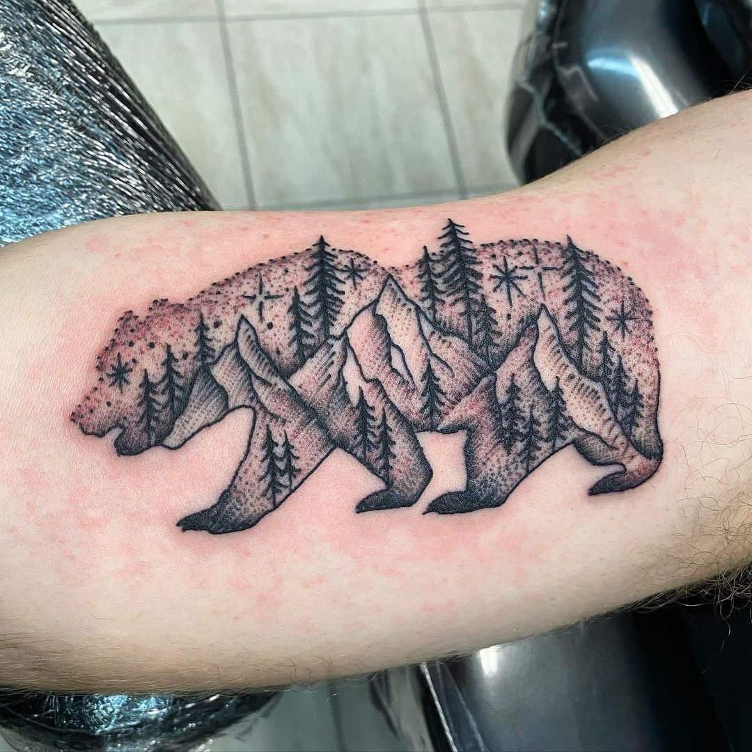 Mountain Black Bear Tattoo slumbabe