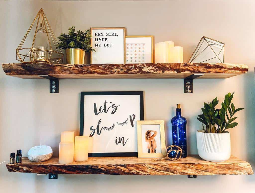 Mounted Shelving Ideas inspiredlivingwithshanna