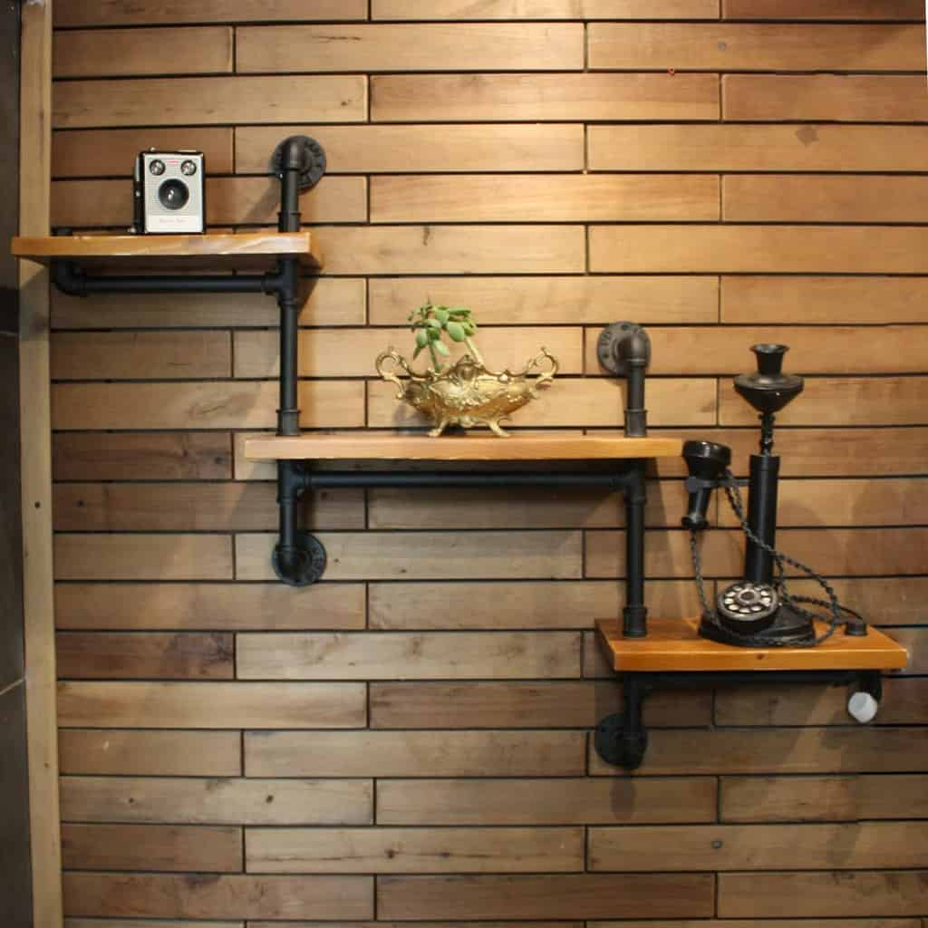 Mounted Shelving Ideas pipe_decoration