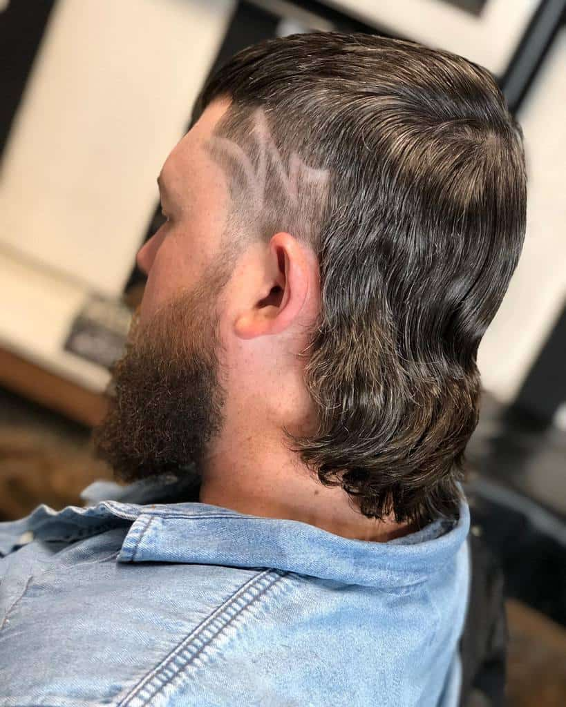 Mullet With Hair Tattoo