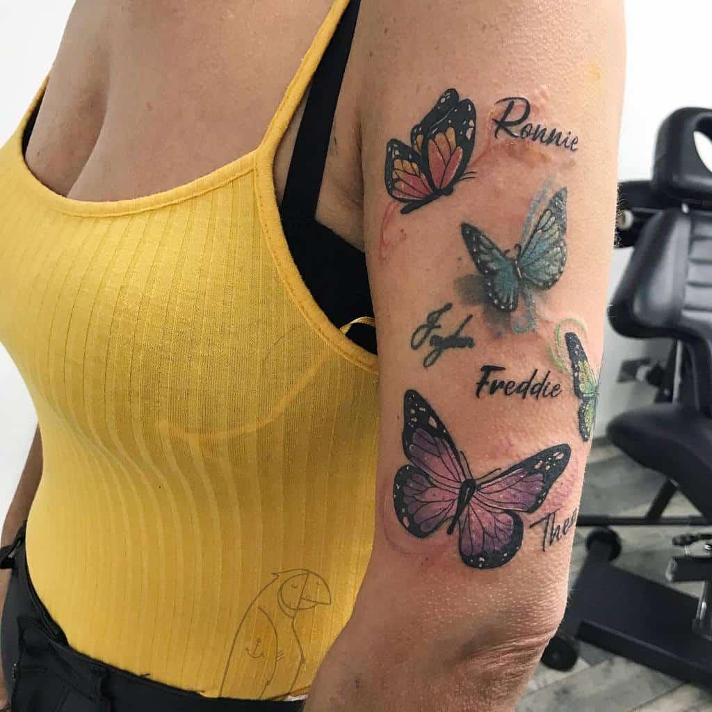 Name Arm Tattoos for Women euthanasia.ink