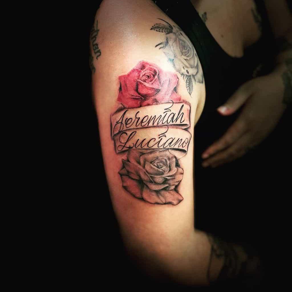 Name Arm Tattoos for Women trekztattoos