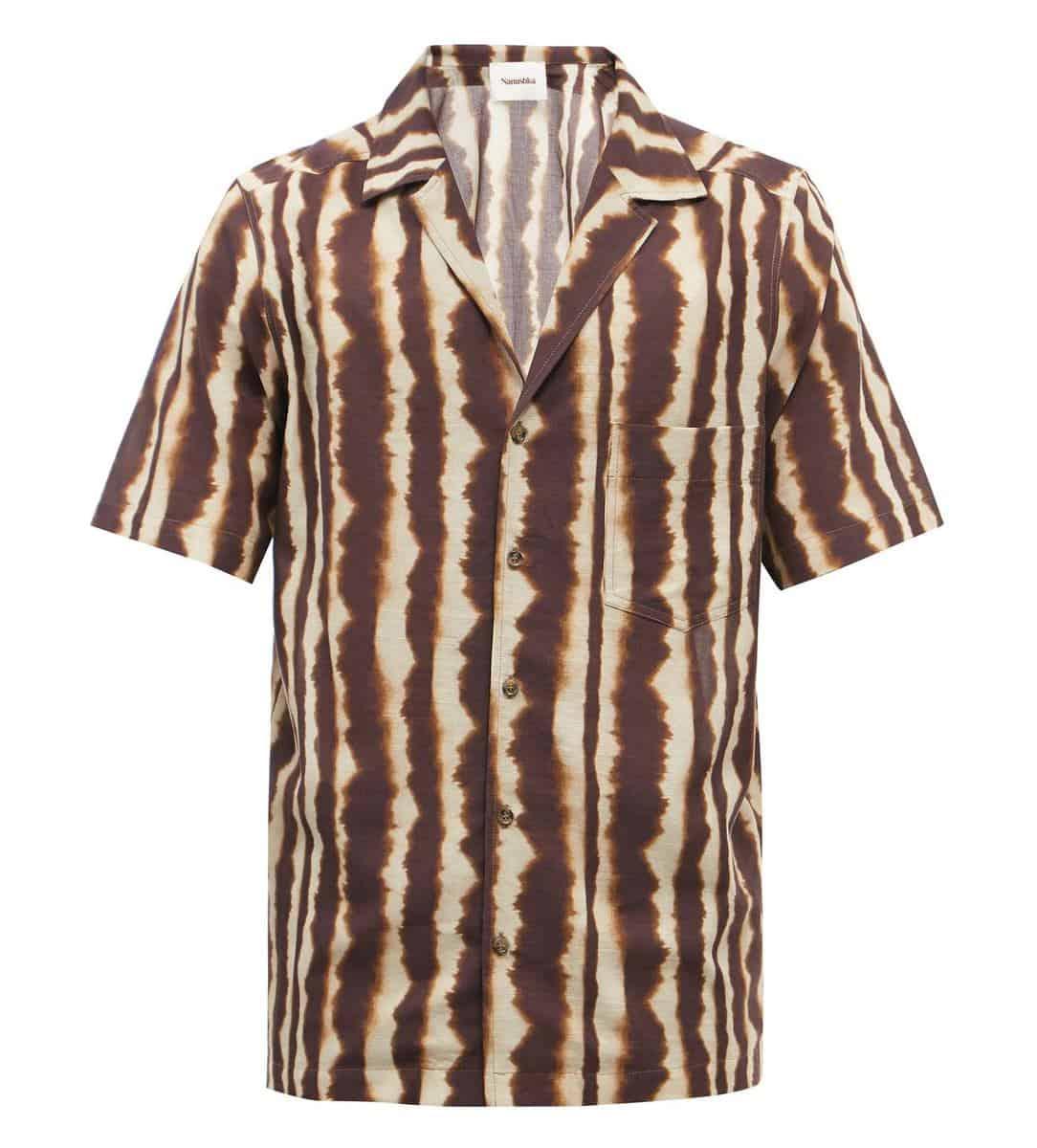 Nanushka Venci Cuban-Collar Shirt