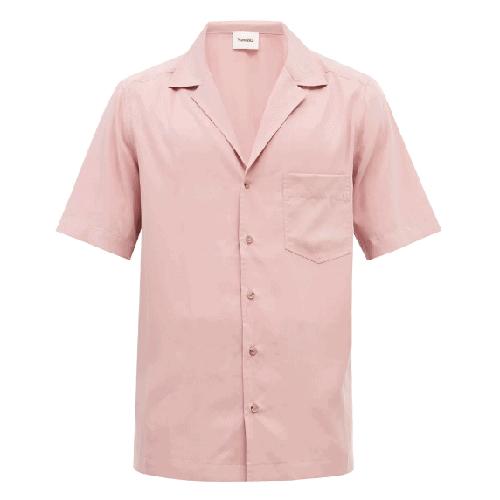 Nanushka Venci Short Sleeve Poplin Shirt