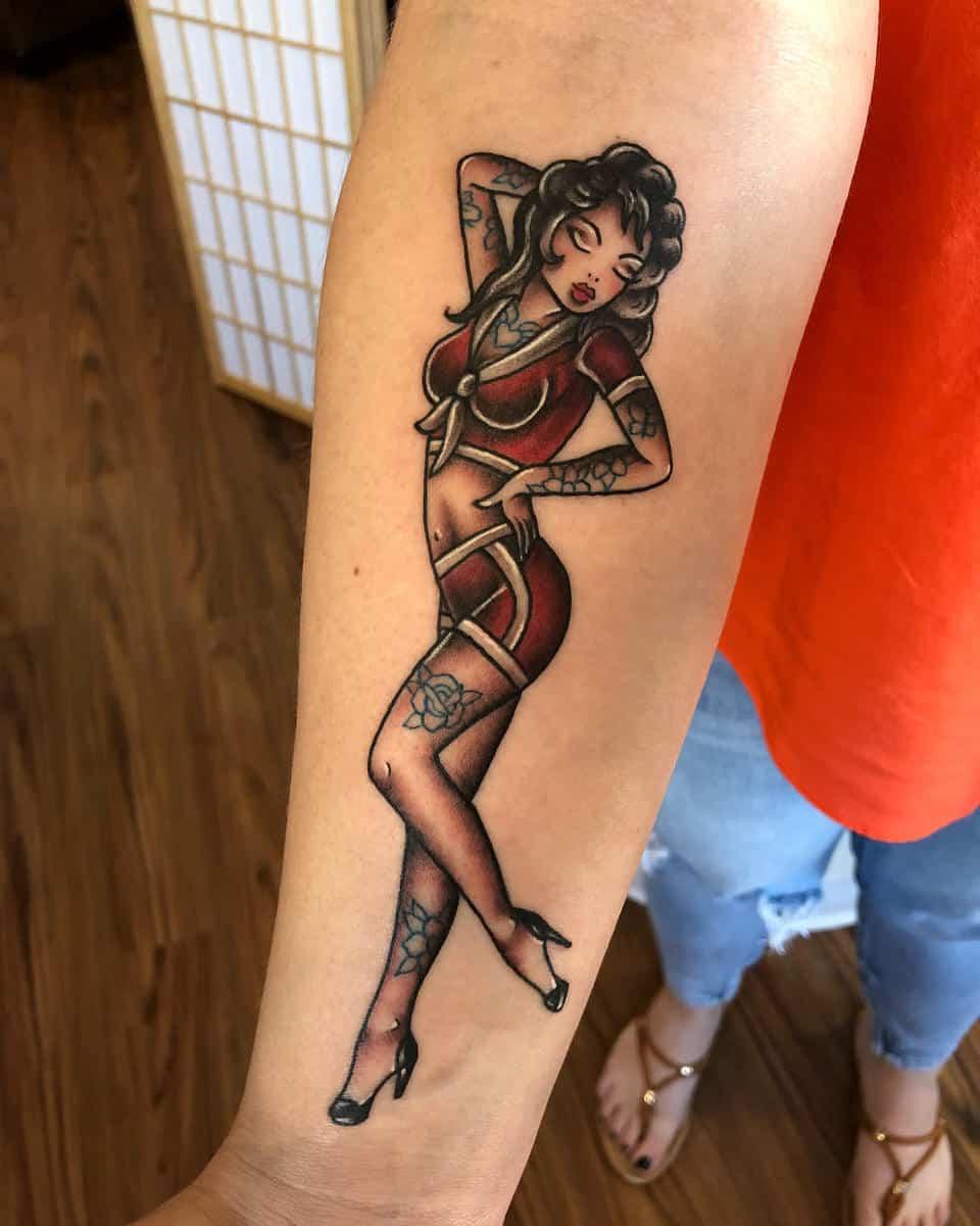 Navy Pin Up Girl Tattoo -amandacreek