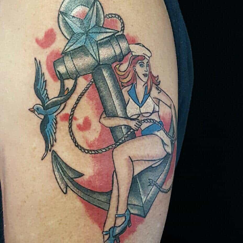 Navy Pin Up Girl Tattoo -atlasarttattoos