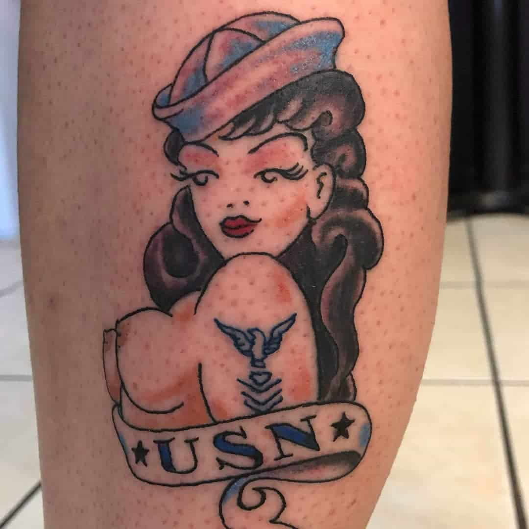 Navy Pin Up Girl Tattoo -gname_changer