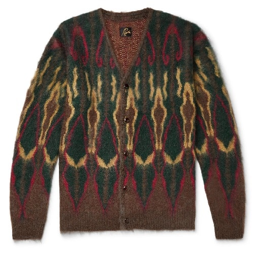 Needles-Intarsia-Mohair-Blend-Cardigan