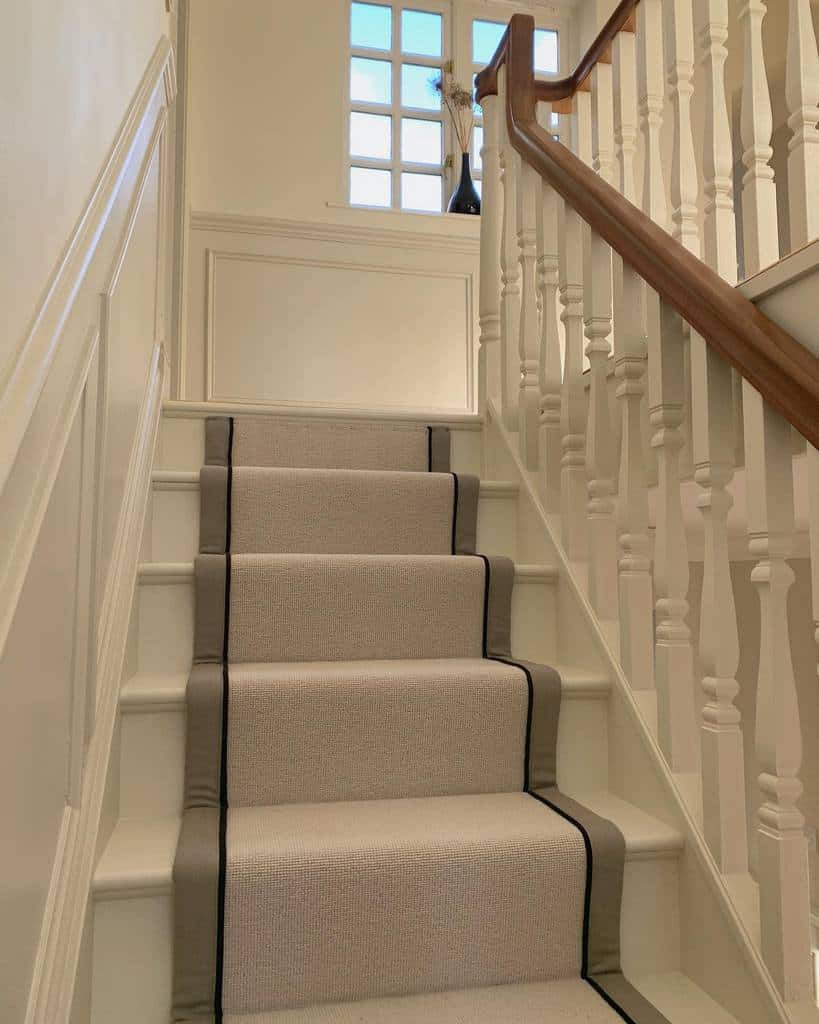 Neutral Stair Runner Ideas -_our_housetohome_