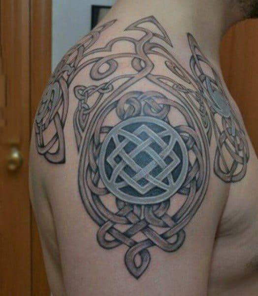 Norse shield knot tattoo