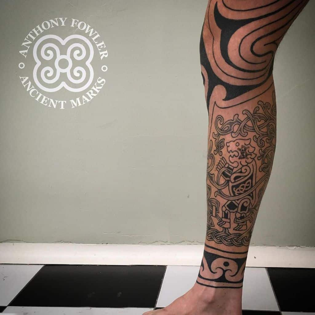Norse Tribal Bear Tattoo celtic_tattoos celtic_tattoos