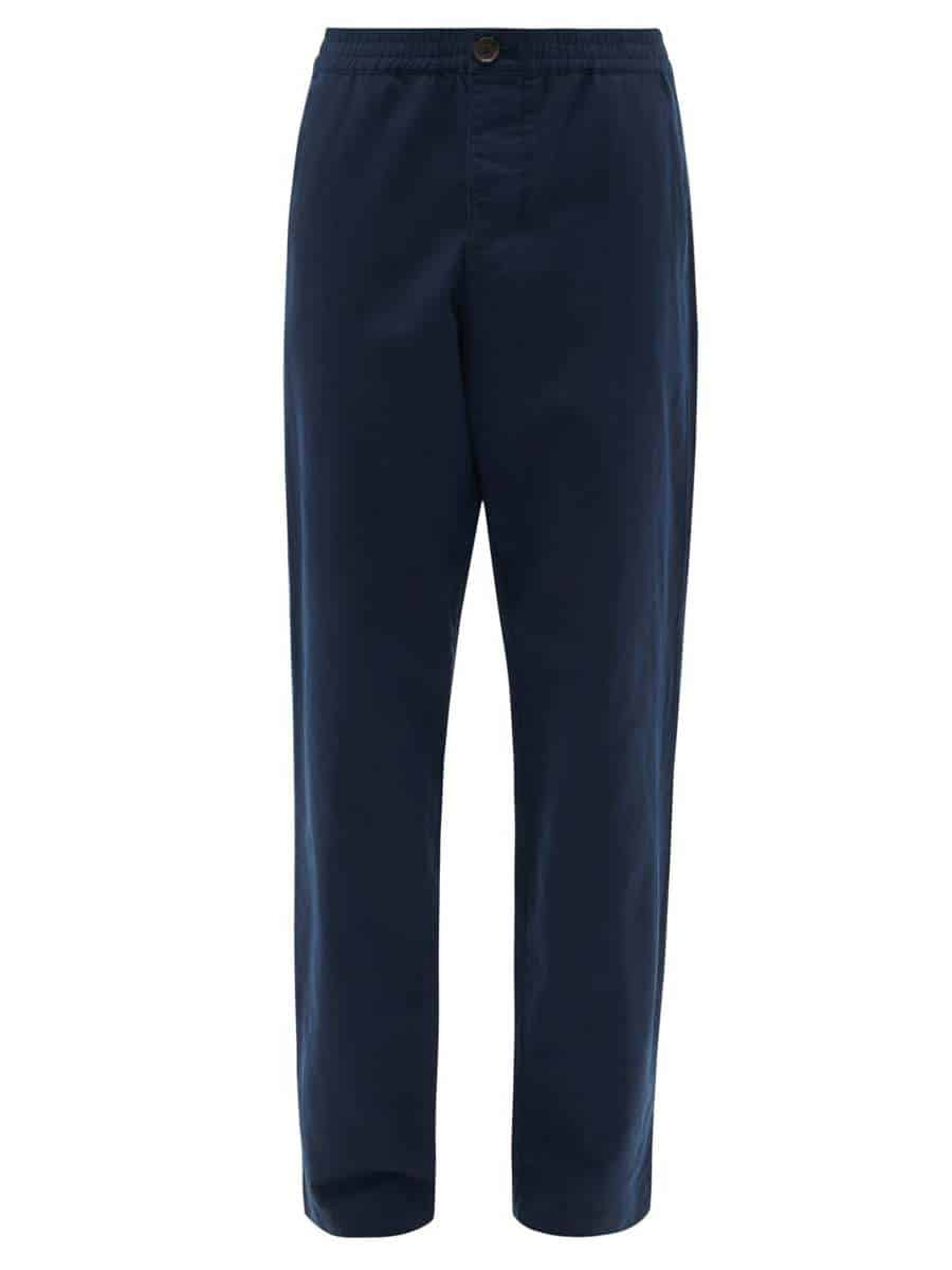 OLIVER SPENCER Linen-blend canvas trousers