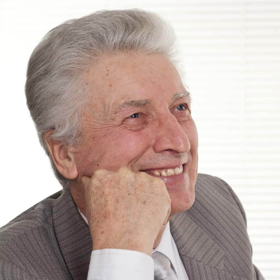 Old Man With Pompadour Hairstyle