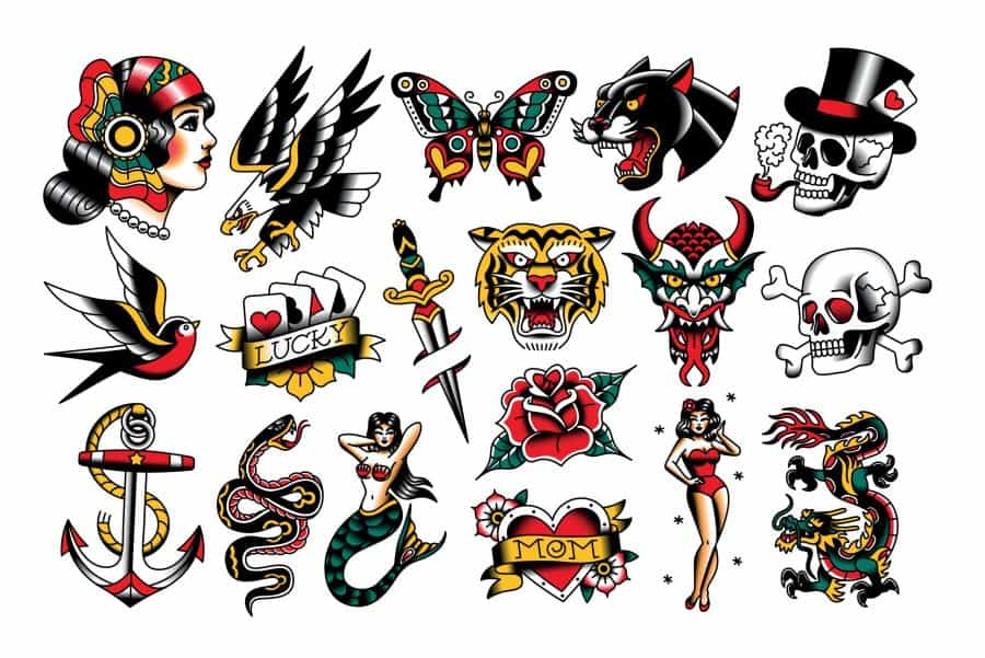 Old School American Traditional Flash Sheet