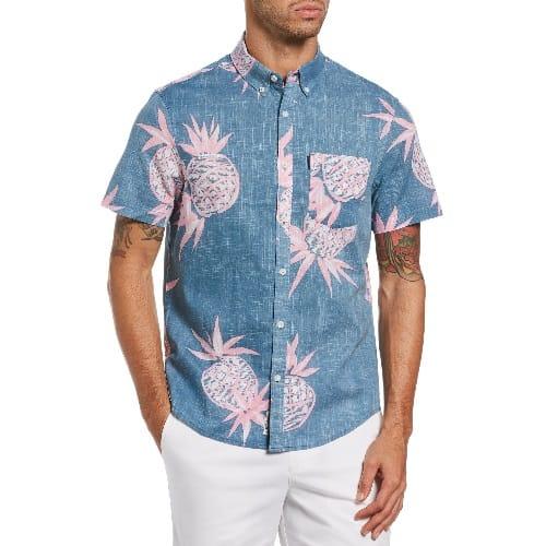 Original Penguin Slim Fit Pineapple Print Shirt