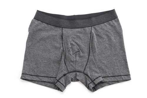 Pact Men's Underwear Heather Grey Trunk