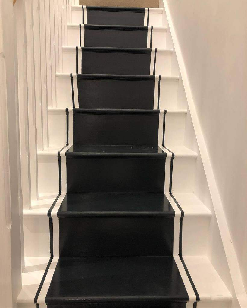 Painted Stair Runner Ideas -forging_our_forever_home