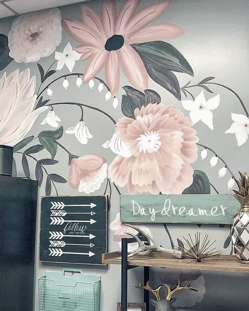 Painted Wall Mural Ideas -illustrious_interiors
