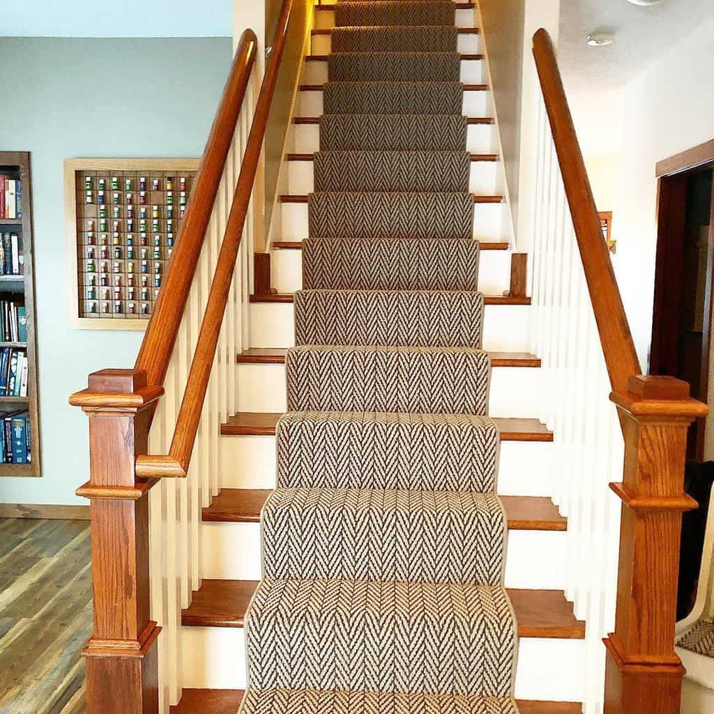Patterned Stair Runner Ideas -prosourcemn