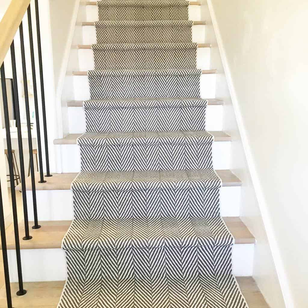 Patterned Stair Runner Ideas -thepowerhome