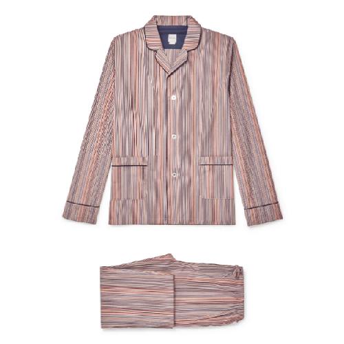 Paul-Smith-Piped-Stripe-Cotton-Pajama-Set