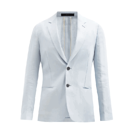 Paul-Smith-Single-Breasted-Linen-Blazer