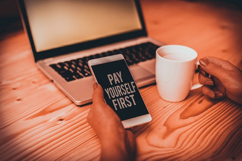 Pay yourself and your employees first - Successful businessman