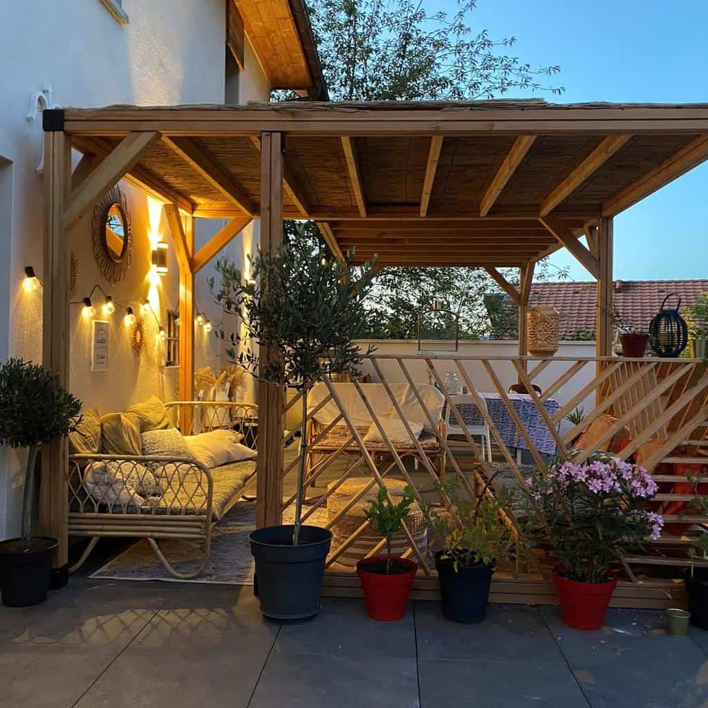 Pergolas DIY Backyard Ideas -lafrenchcabane