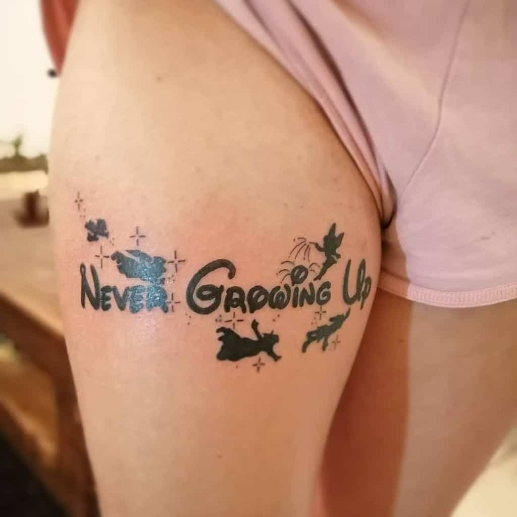 Peter Pan Never Grow Up Tattoo One Love One King