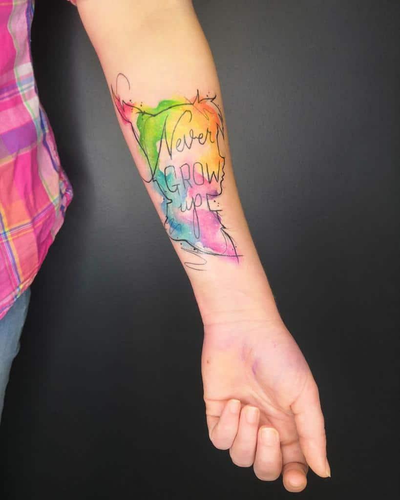 Peter Pan Never Grow Up Tattoo Yossu87