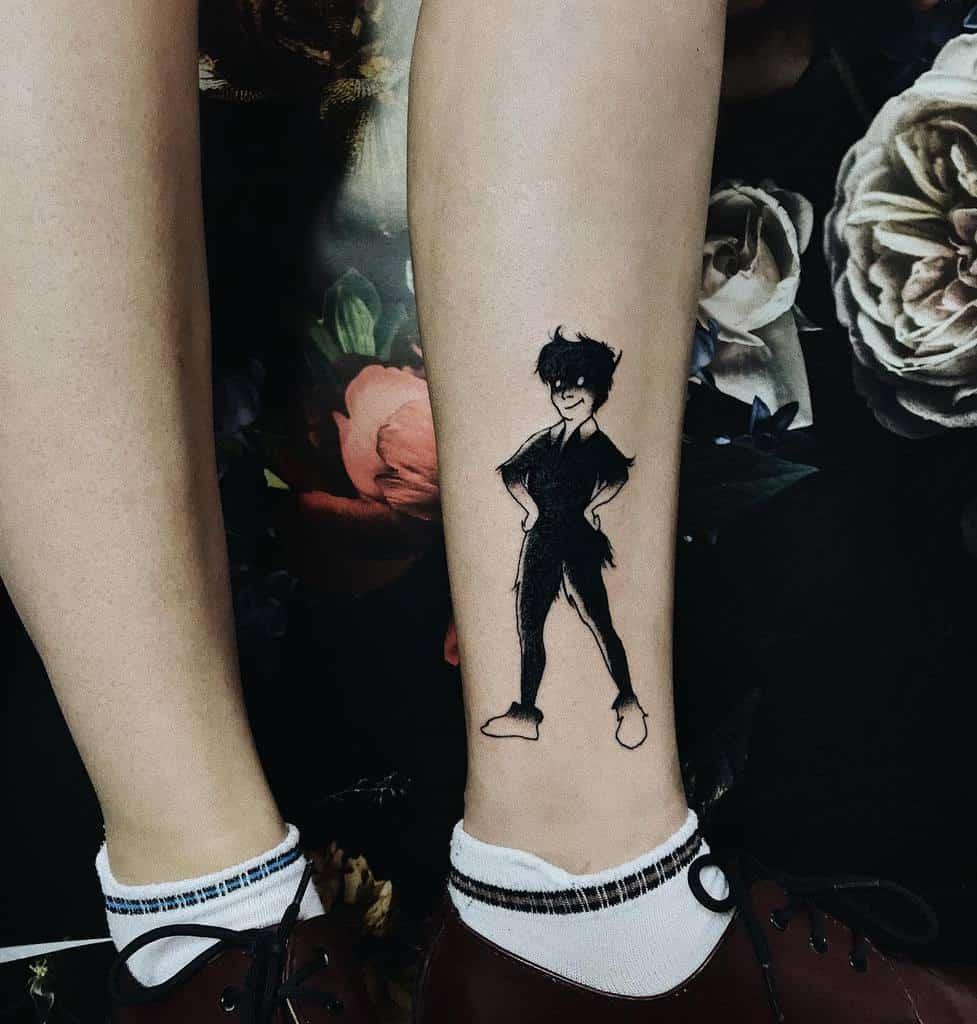 Peter Pan Silhouette Tattoo Ambryon.tattoo