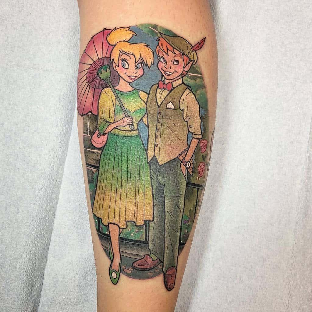 Peter Pan With Tinkerbell Tattoo Nikkirex