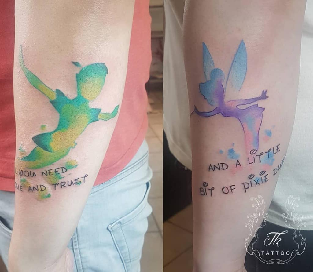 Peter Pan With Tinkerbell Tattoo Thtattoostudio