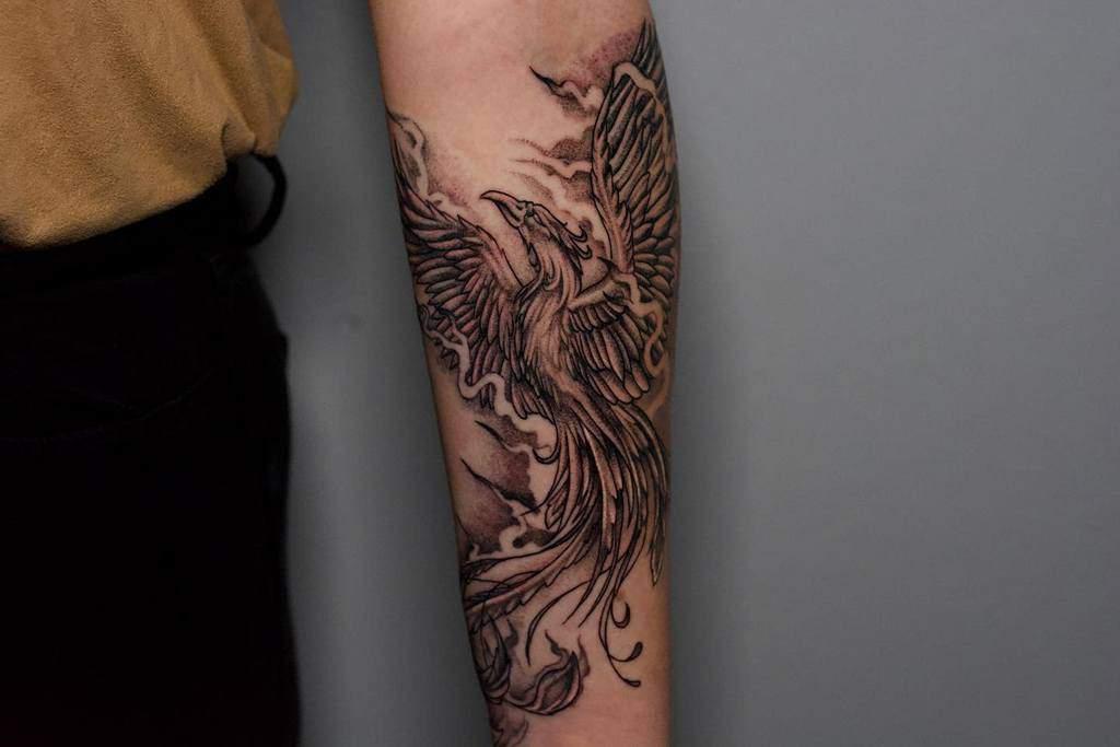 Phoenix Rising Arm Tattoo jpena_ink